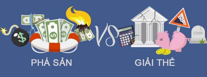So sánh giải thể và phá sản doanh nghiệp
