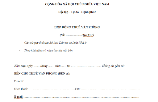 mẫu thông báo chấm dứt hợp đồng thuê mặt bằng