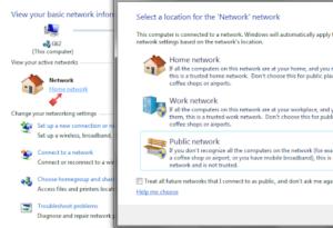 Tư vấn: nên chọn home network hay public network